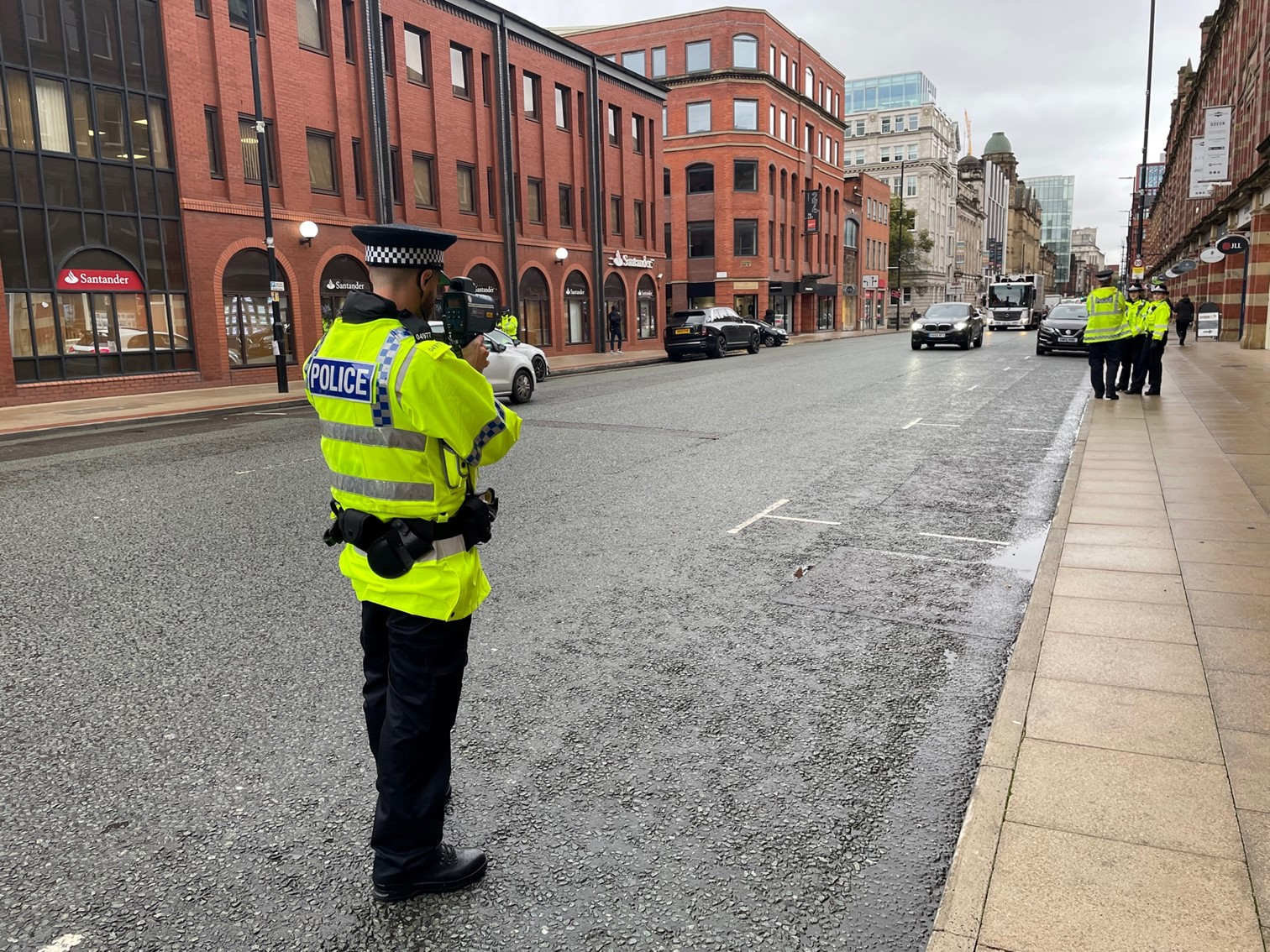 Police Now officers on traffic patrols, Deansgate